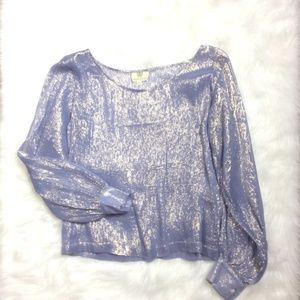 Koch oversized Silk and Metallic Top size XS